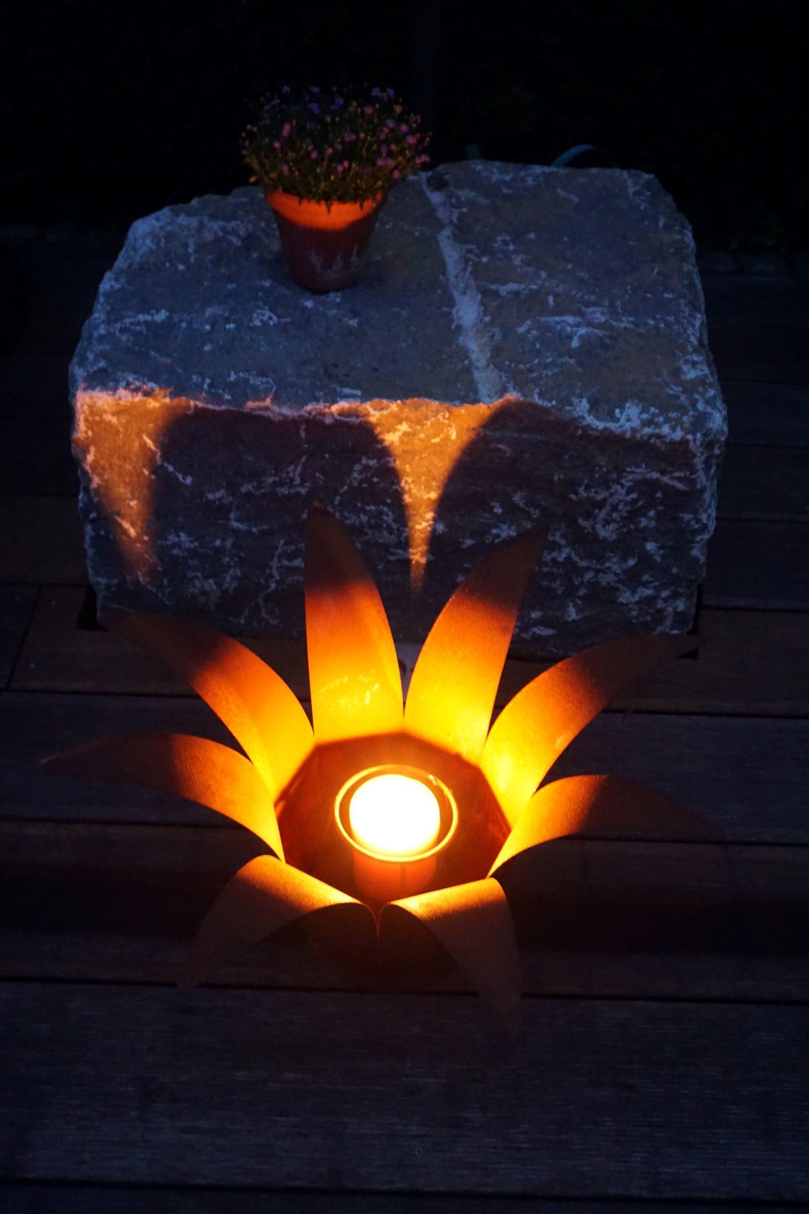Edelrost Feuerblume Gartendeko Feuerschale