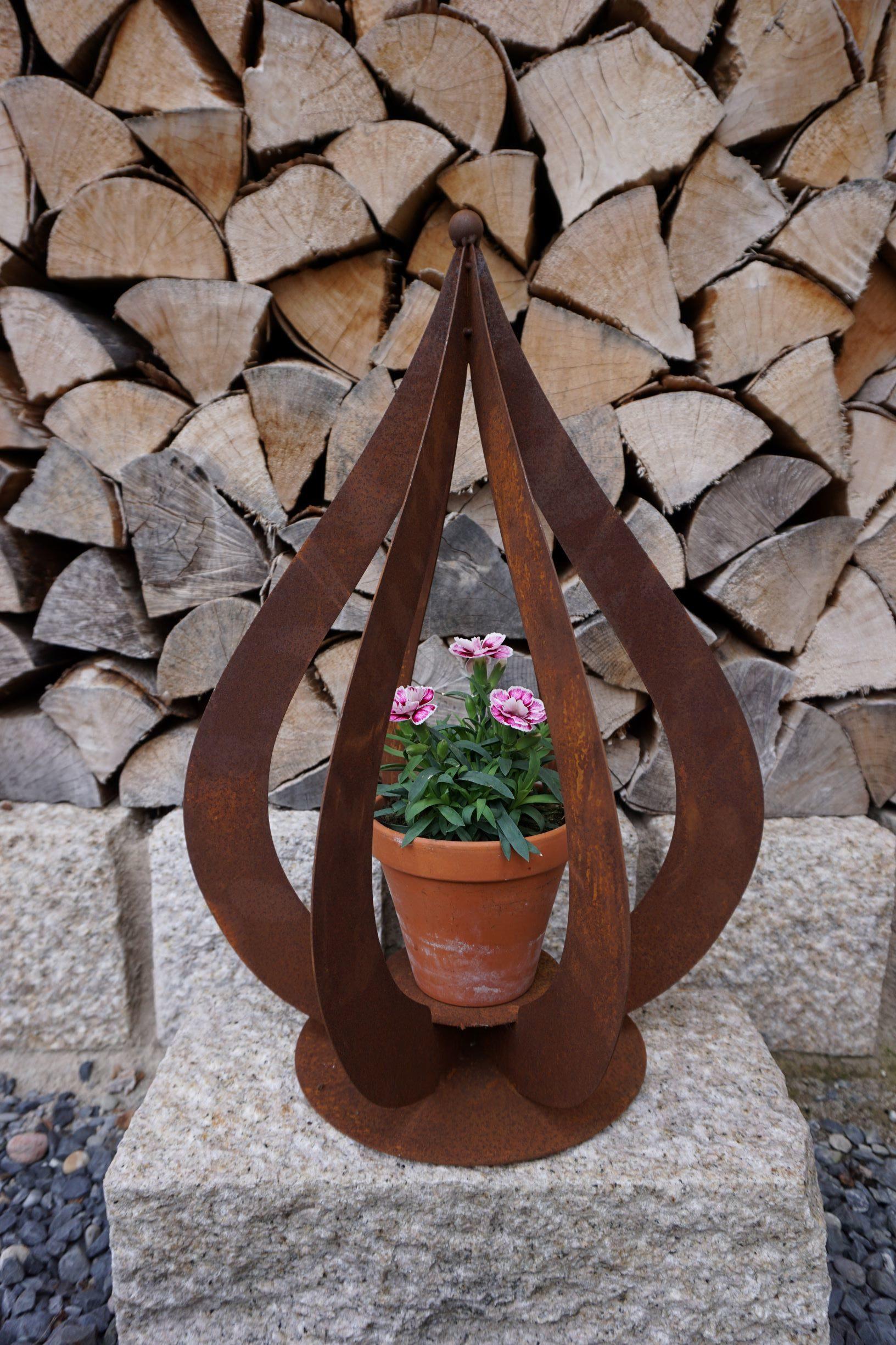 Flamme 3D Edelrost Gartendeko