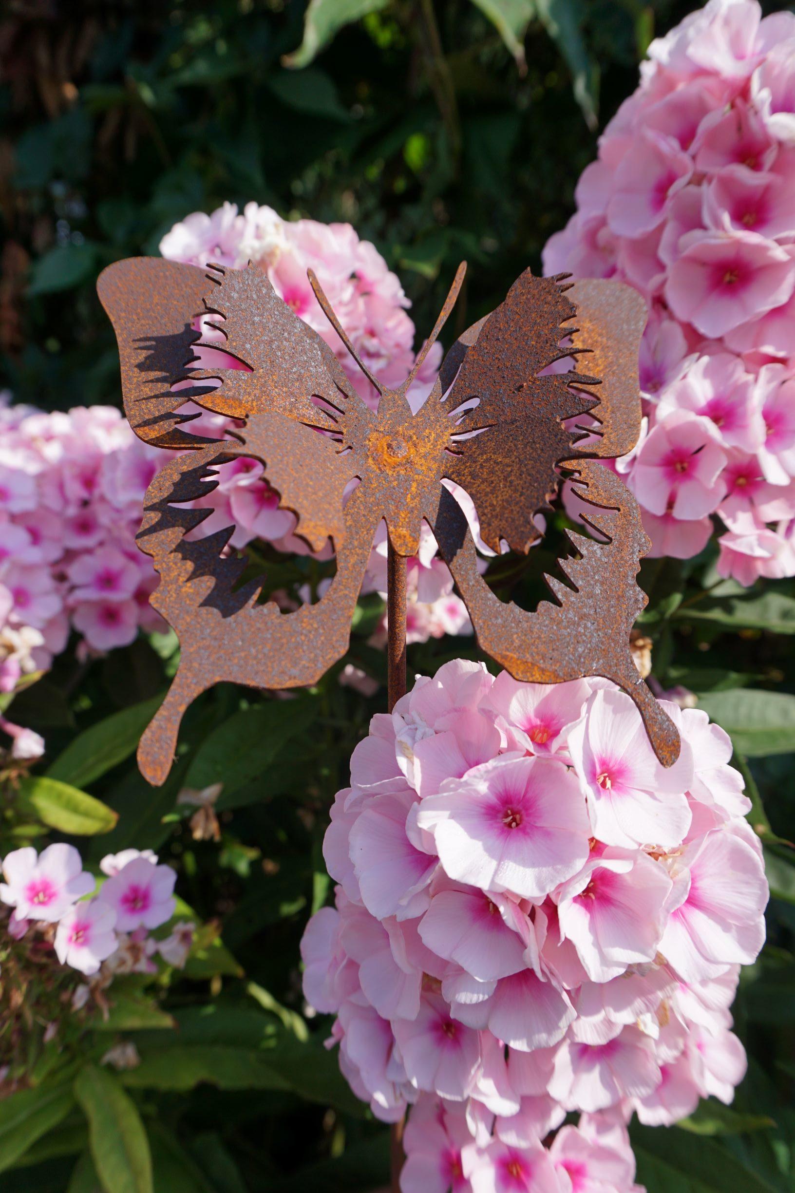 Vintage One Der Edelrost Deko Shop Edelrost Schmetterling Stecker Gartendeko Rost